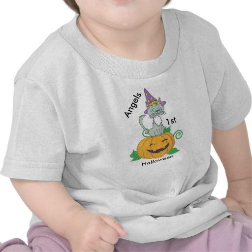 Personalized Custom Babys 1st Halloween T-Shirt