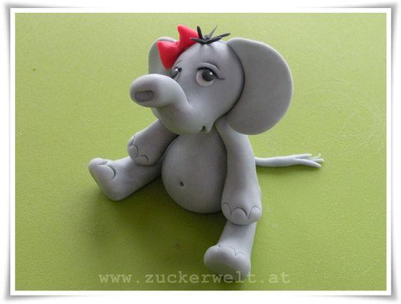 Elephant fondant gumpaste tutorial