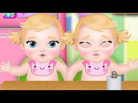 Cuidando Bebés Mellizos Juegos Y Vídeos Infantiles Youtube Bebes Mellizos Cuidar Bebe Videos Infantiles
