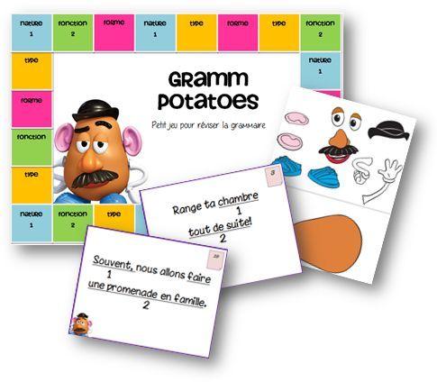 Jeu de révision en grammaire - Gramm potatoes - La classe de Mallory