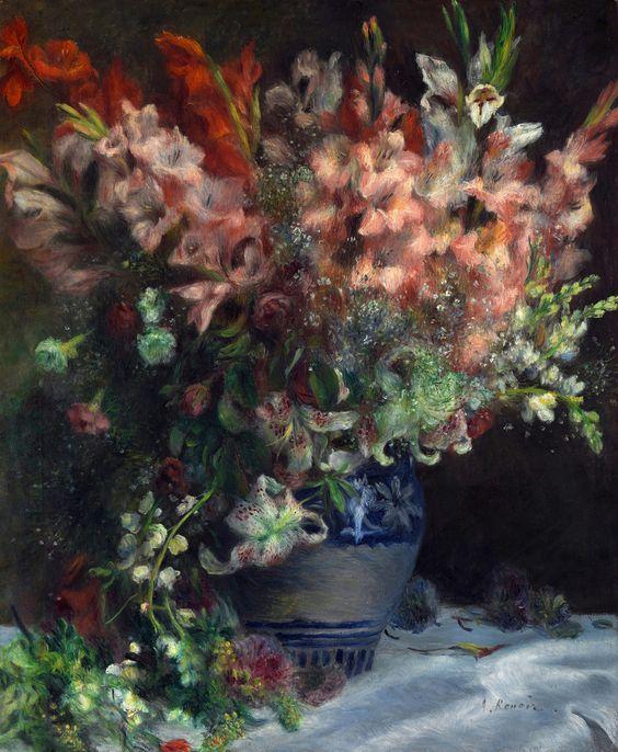 Renoir Gladioli In A Vase Poster
