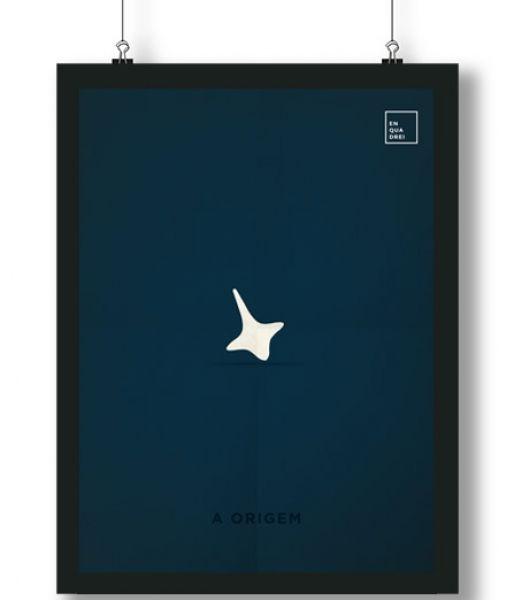 Pôster/Quadro minimalista A Origem