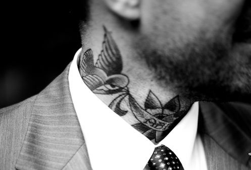 Job Stopper Suits And Tattoos Neck Tattoo Tattoos