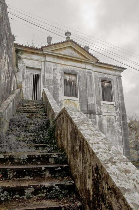 Quinta do Marques de Pombal, Oeiras, Portugal. A rare example of Baroque architecture in Portugal, the house and extensive gardens are now a part of the Ministry of Agriculture but it has been badly neglected and ruined.