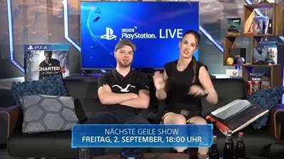 2. Teil - Der Inside PlayStation-Stream wartet auf euch! Heute am Programm: ABZÛ, Brut@l, No Man's Sky News, das Uncharted 4 Community Match und vieles mehr.