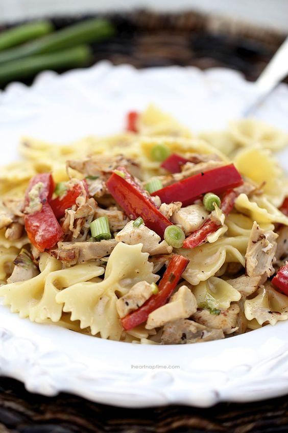 Lemon chicken farfalle pasta recipe