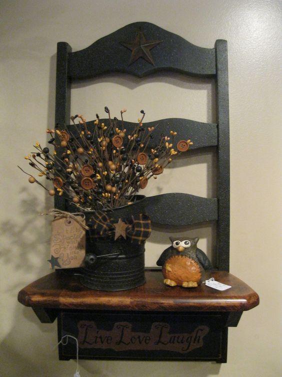 Chair Shelf: