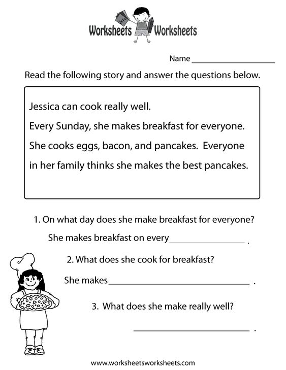 freeeducation.com/worksheets for second grade | ... Comprehension ...