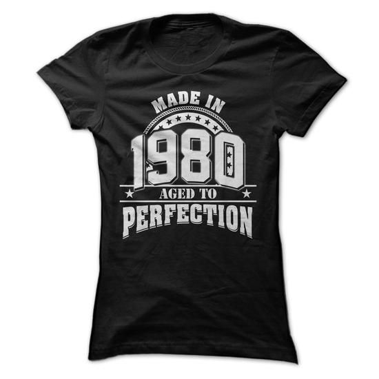 Made In 1980 - Aged To Perfection - #disney shirt #shirt cutting. SECURE CHECKOUT => https://www.sunfrog.com/LifeStyle/Made-In-1980--Aged-To-Perfection-5247788-Guys.html?68278