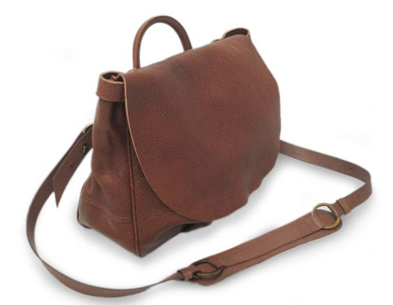 Artisan Crafted Brown Leather Messenger Bag