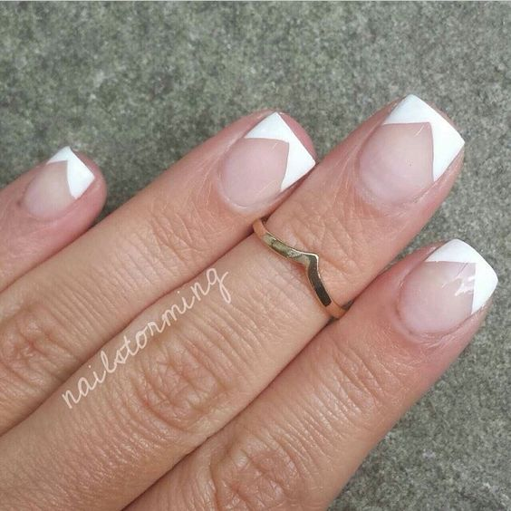 Cute different french tip