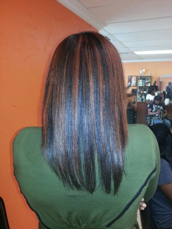 Silk out with highlights