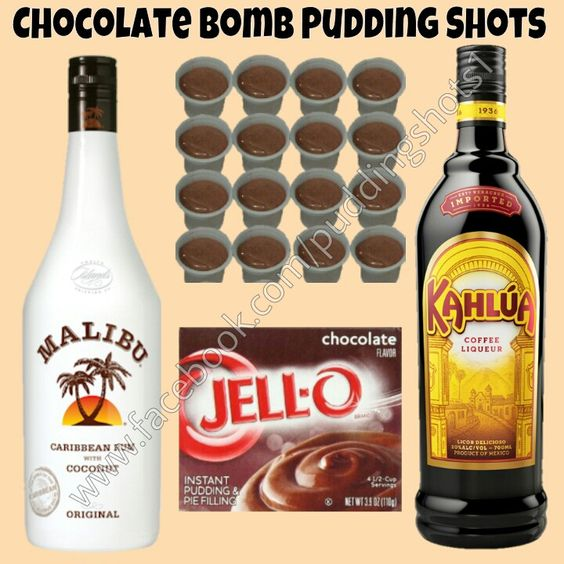 Chocolate Bomb Pudding Shots. See full recipe and more on www.facebook ...