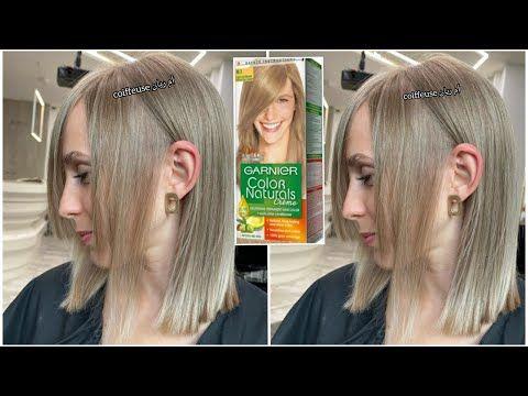 اسهل طريقة لتحويل اللون الاورانج الى اشقر رمادي لون رائع جدا بصبغة واحدة غارنيبه بالصبغة فقط Youtube In 2021 Hair Color Swatches Hair Color Hair