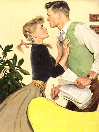 Vintage Romance with pigtails.