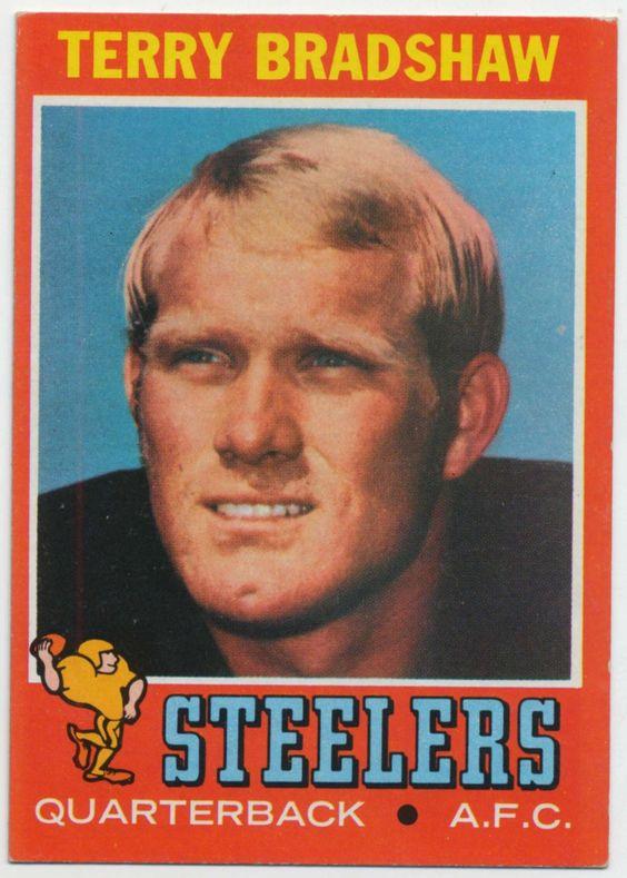 Terry Bradshaw Rookie Card - Pittsburgh Steelers