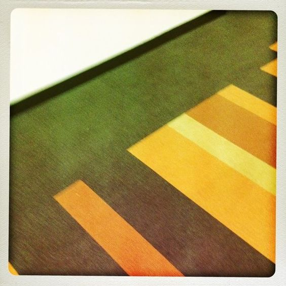 Another image created with iPhone app Disposable, abstracted from geometric carpet in a downtown LA building.
