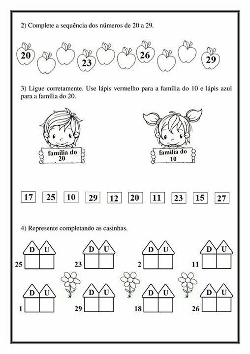Atividade Aprendendo Os Numeros Volume 2 Atividades Portfolio