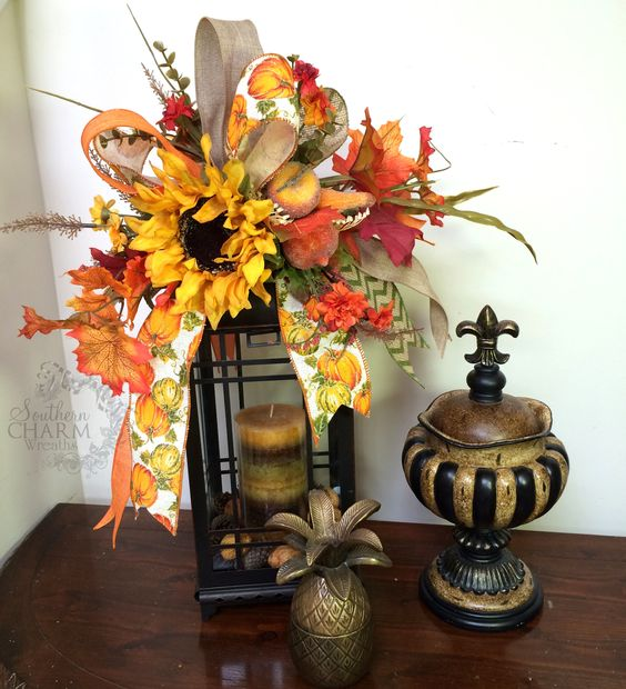 Decorating Ideas > Fall Lanterns, Swag And Pumpkin Flower On Pinterest ~ 072643_Thanksgiving Lantern Decorations