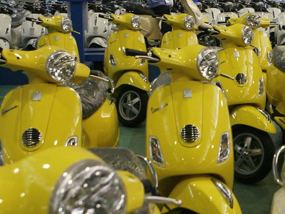 Piaggio's iconic Vespa scooter returns to India. Italy's iconic Vespa scooter, a rage with the Indian middle class in its heyday, re-entered the country on Thursday after a 13-year hiatus as scooters come back in vogue.