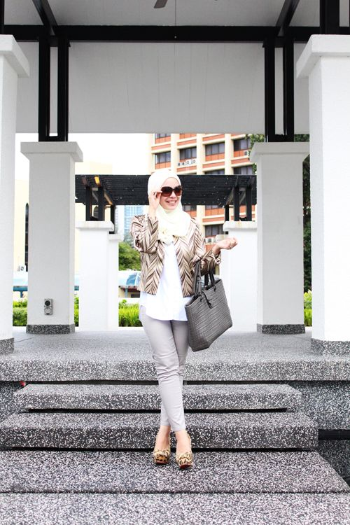 White Office Wear Hijab Collection