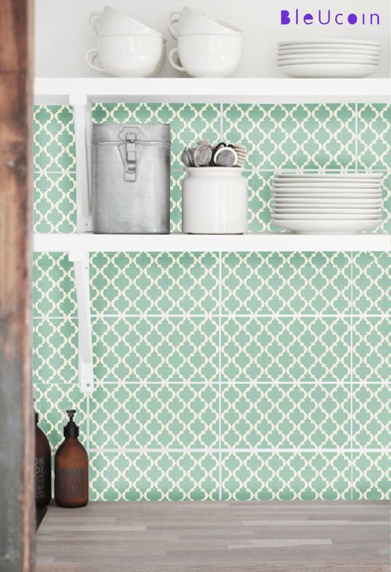 Tile/ Wall decal :Classic Moroccan Pattern 44 pcs by Bleucoin on Etsy https://www.etsy.com/listing/158078125/tile-wall-decal-classic-moroccan-pattern
