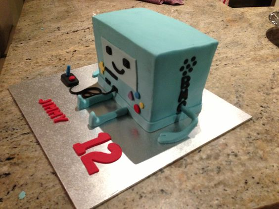 Bemo cake, from Adventure time! Made for my sons 12th Birthday ..