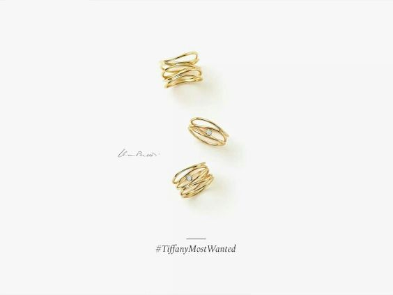Wave rings 18kt gold and diamonds