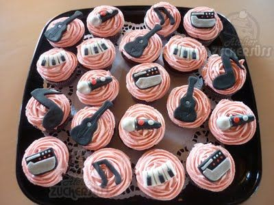 Music inspired cupcakes