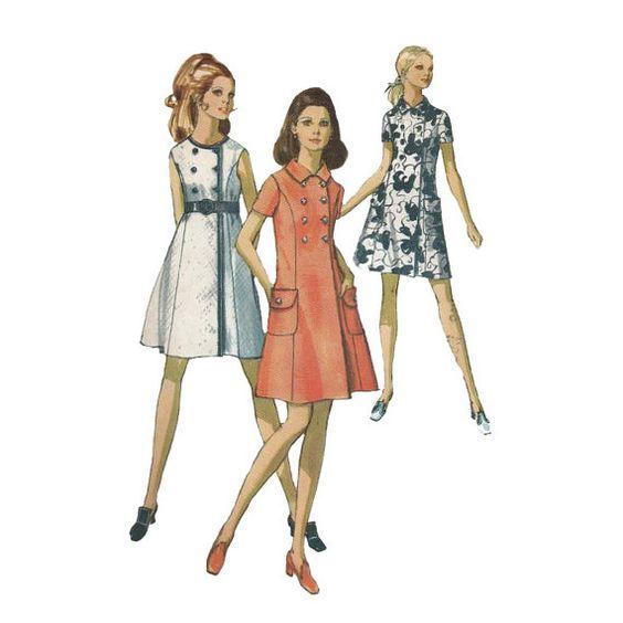 1960er jahre prinzessin naht mantel kleid muster ungeschnittenen einfachheit 8586 double. Black Bedroom Furniture Sets. Home Design Ideas