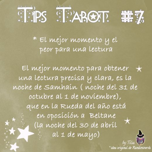 Tarot Tips 7 | Tilia's Blog