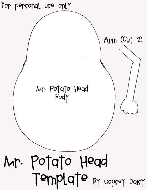 Mr. Potatohead Template (cloth potatohead)