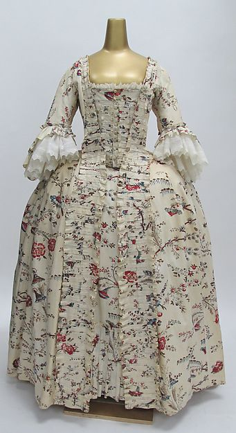 Dress Date: 1750–75 Culture: French Medium: cotton Accession Number: C.I.64.32.3a, b