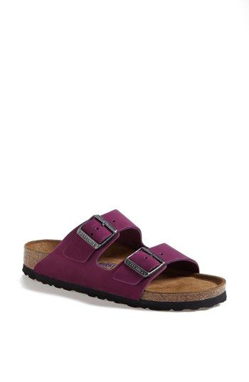 birkenstock arizona purple suede