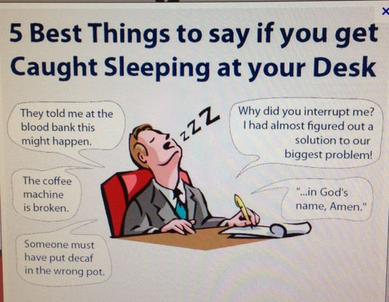 What To Say If You Get Caught Sleeping At Your Desk