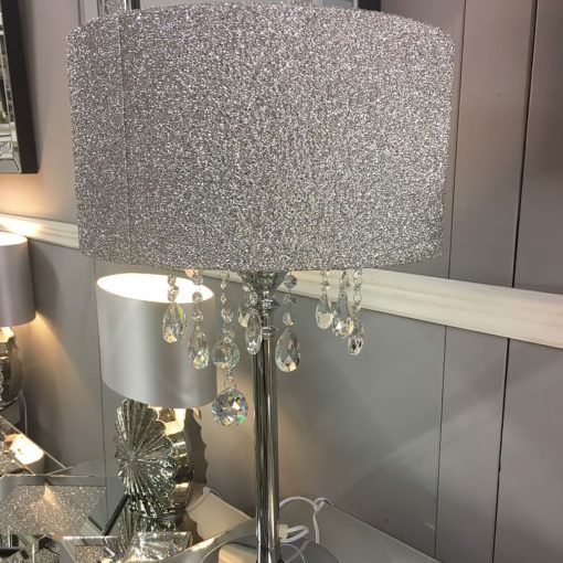 sparkly table lamps uk