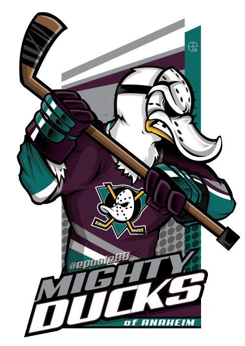 Need A Mighty Ducks Of Anaheim Cartoon Epoole88 Eric Poole Has Ya Covered Anaheim Ducks Hockey Ducks Hockey Hockey Logos