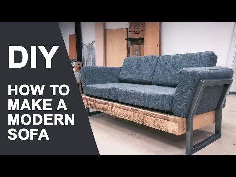 How To Make A Sofa Diy Modern Sofa Youtube Modern Sofa Diy Sofa Modern Diy