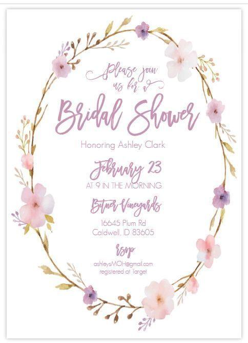 Details about Lattice Baby Shower Invitation For Girl - Elegant - bridal shower template