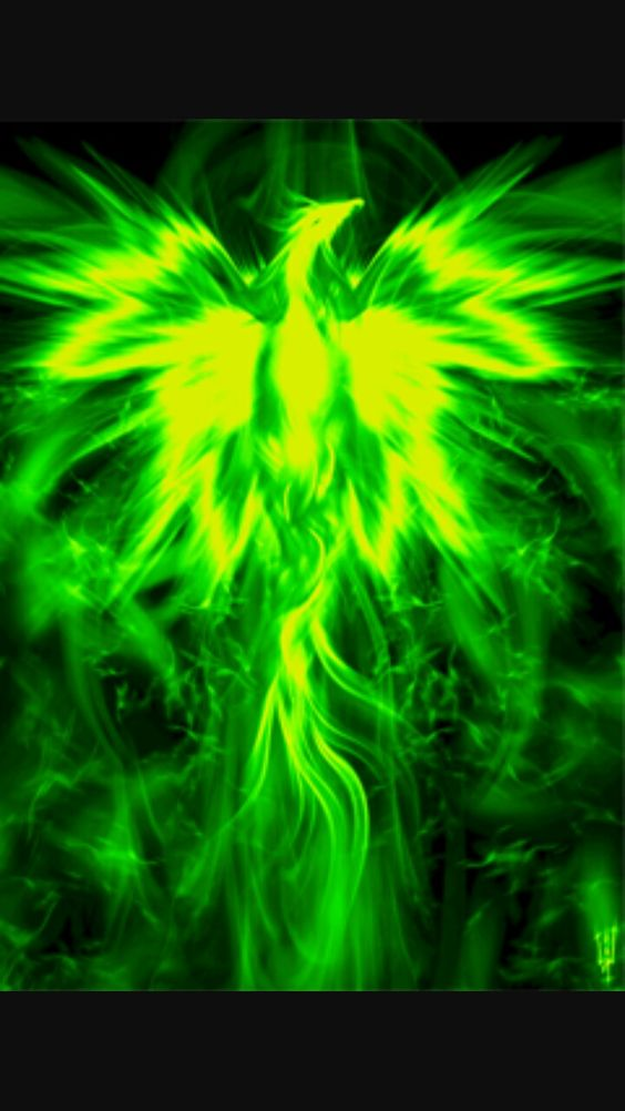 Green flame phoenix