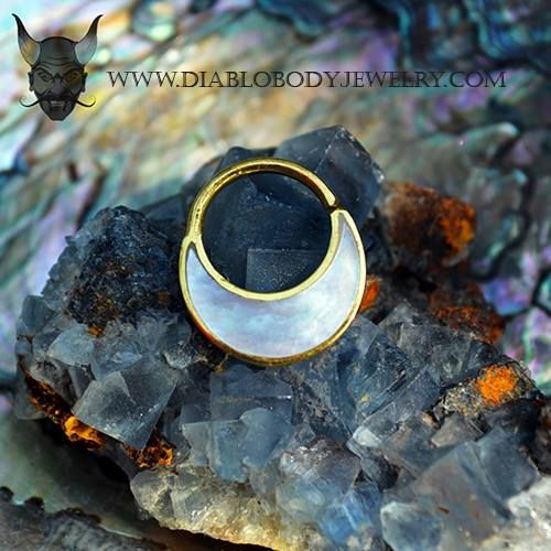 14kt Yellow Gold Plated Haute Septum or Daith Ring by Buddha Jewelry Organics