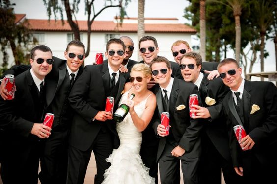 I like the idea of the bride taking fun pics with the groomsman and the groom doing the same with the bridesmaids