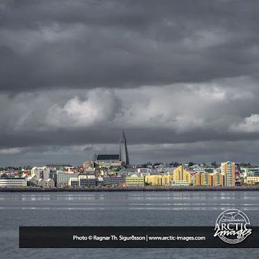 Reykjavik ICELAND  A skyline shoot of the Capital of Iceland Reykjavik and the iconic church Hallgrimskirkja in the middle.