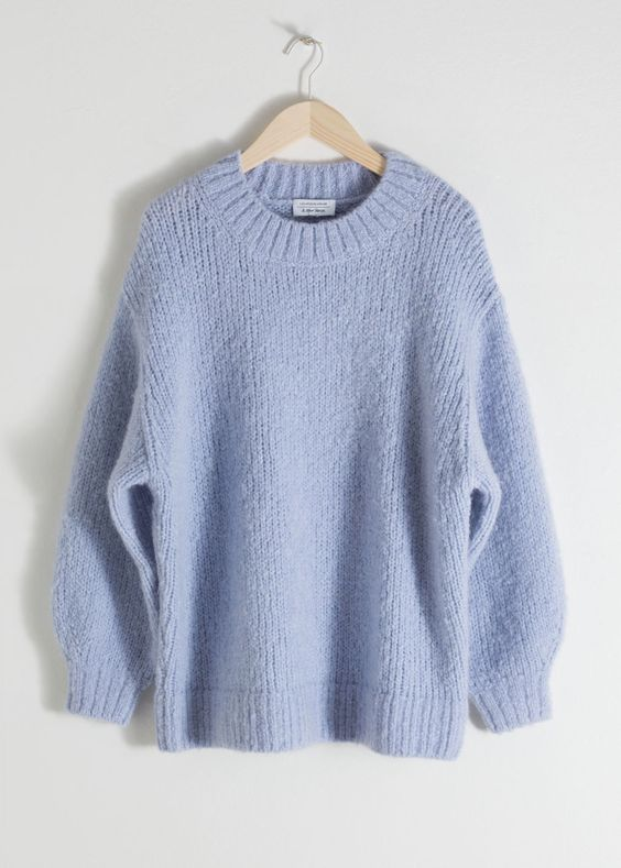 Wool Blend Chunky Knit Sweater - Beige - Sweaters - & Other Stories