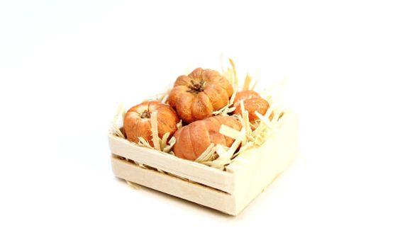 Primitive Miniature Pumpkins Wood Crate