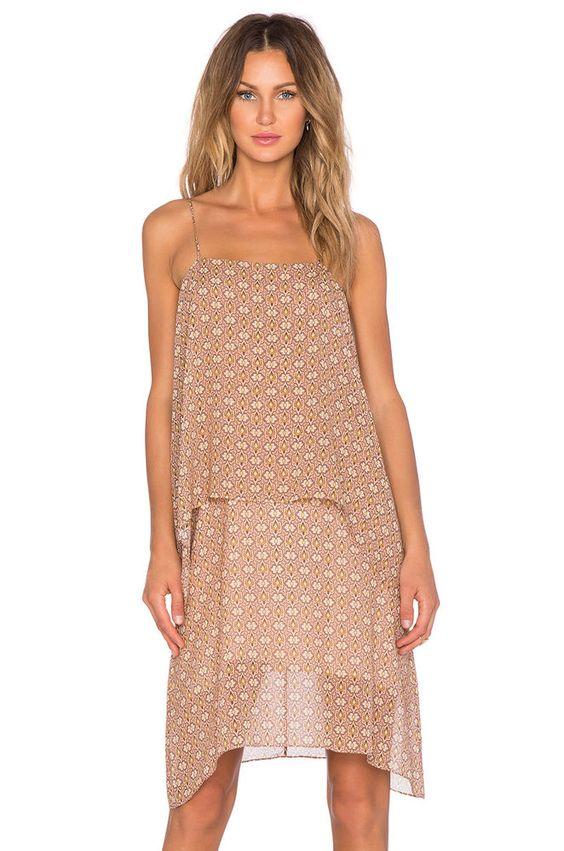 NWT Theory Dafeon Foulard-Print Silk Chiffon Summer Dress in Peach Nectar–Medium