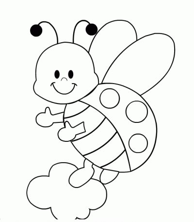 Ladybug Coloring sheets for preschoolers - Enjoy Coloring