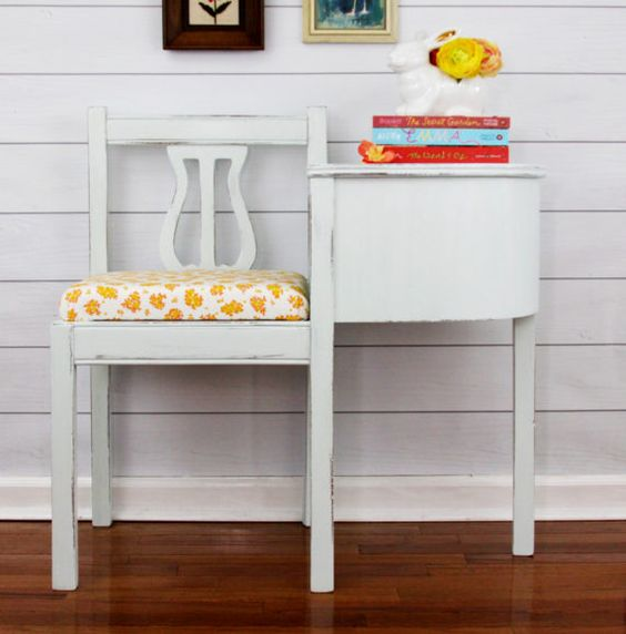Folk Art Milk Paint Bench Refinish:
