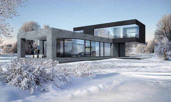 Descubra fotos de Habitações Minimalista por Aleksandr Zhydkov architect. Encontre em fotos as melhores ideias e inspirações para criar a sua casa perfeita.