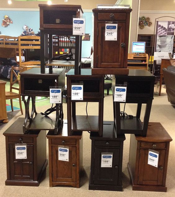 Power Side End Tables Complete With Electrical Outlets To Plug In Cell  Phone, Tablets And Other Accessories! #SideTable #LivingRoom #FamilyRoom  #Cu2026 ... Part 25